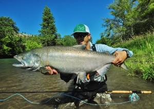 Brian Chow with a sweet Chinook